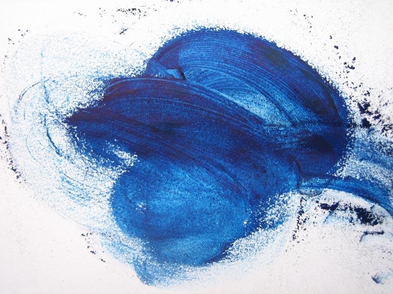 Blue Paint Smear Transparent Background